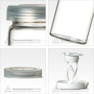 Glass containers for pills