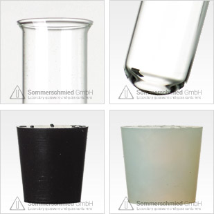 flared lip, glassware, test tubes, cork stoppers, test tubes