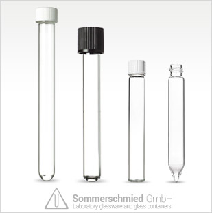 test tubes, thread, transparent, brown, glass, screw