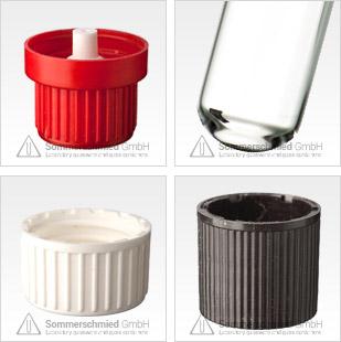 test tubes, thread, transparent, brown, glass, screw
